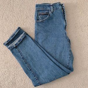 Vintage high waisted dark wash boyfriend jeans